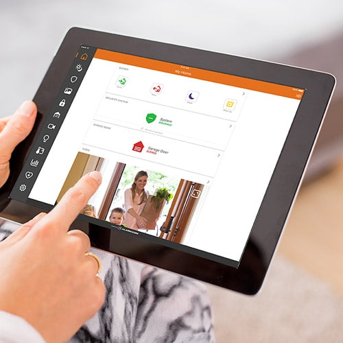 Home control center for iPad or tablet